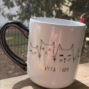 NWOT Sheffield Home Crazy Cat Lady Mug 16oz
